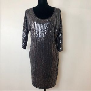 Haute Hippie Sequin Dolman Mini Dress